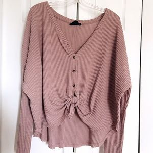 Urban Outfitters Jojo oversized button-front top